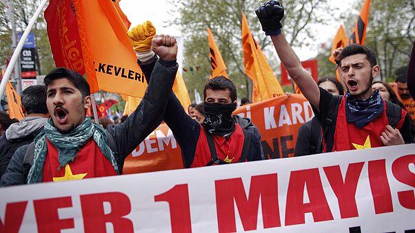1.º de Maio na Turquia marcado por confrontos e detenções perto da Praça Taksim