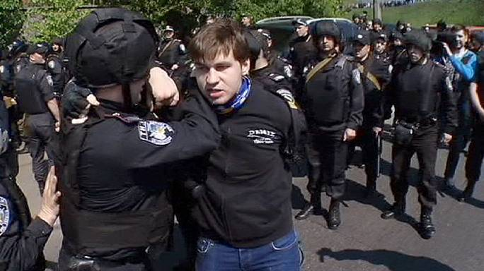 Május elseje Kijevben megemlékezéssel és dulakodással