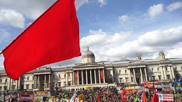 آلبوم عکس: راهپیمایی روز جهانی کارگر در لندن