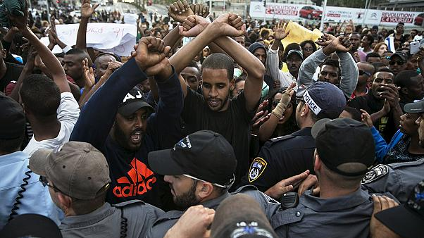 Ethopian Israelis protest in Tel Aviv against alleged police brutality and racism