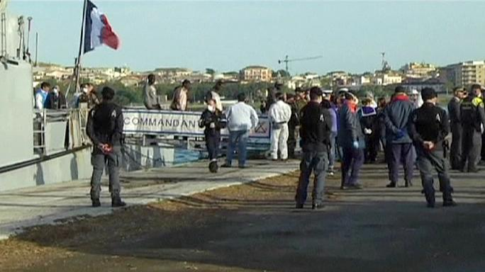 French and Italian ships rescue thousands of migrants in the Mediterranean