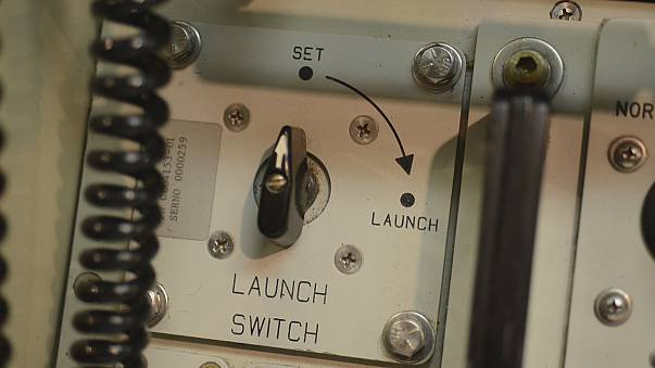 Part of the control panel that launches a nuclear-tipped missile.