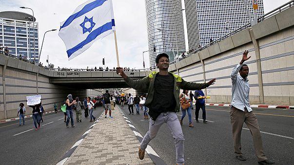درگیری یهودیان اتیوپیایی تبار اسرائیل با پلیس در تل آویو