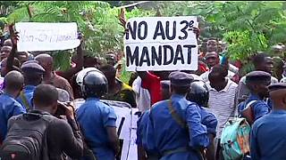 Halálos tüntetés Burundiban