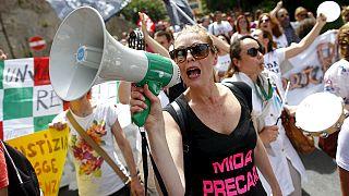 Tanítás helyett pedagógus-sztrájk Olaszországban