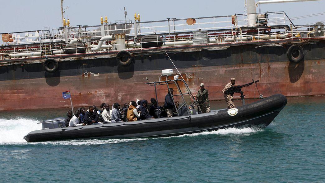 نحو 40 مهاجراً قضوا بعد غرق قاربهم في البحر المتوسط