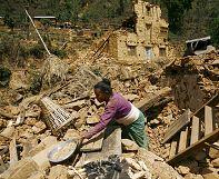 Népal: l'énergie du séisme est 700 fois plus importante que celle dégagée par Hiroshima
