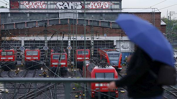 German rail's longest train stoppage strands and angers millions