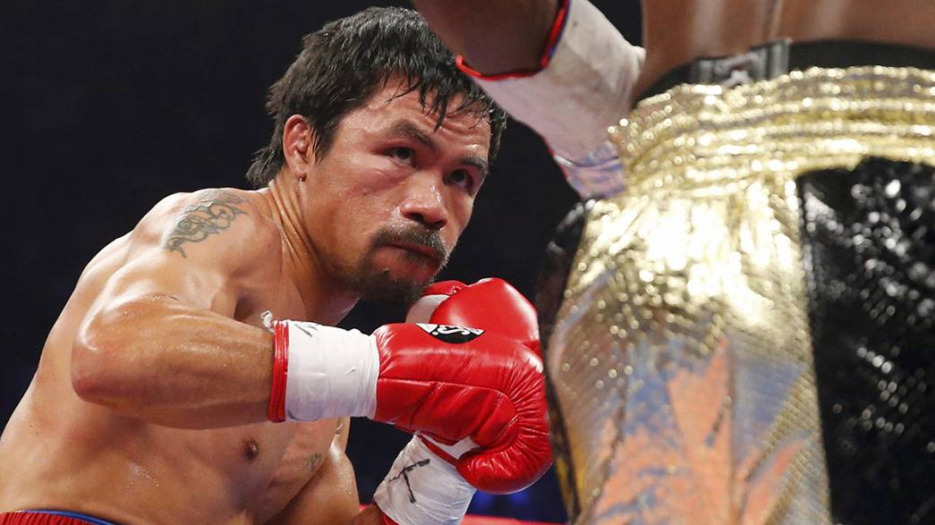Boxer Manny Pacquiao is sued over alleged shoulder injury