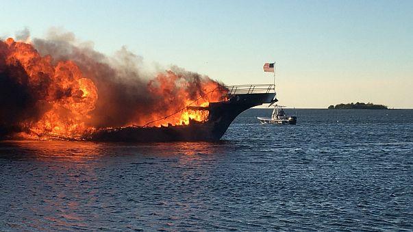 Image: Casino shuttle fire in Florida