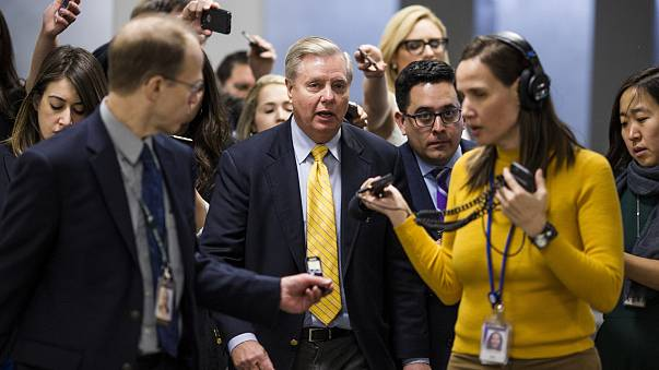 Image: Sen. Lindsey Graham speaks to reporters