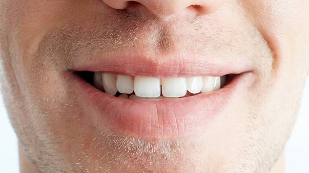 Close-up of man's mouth