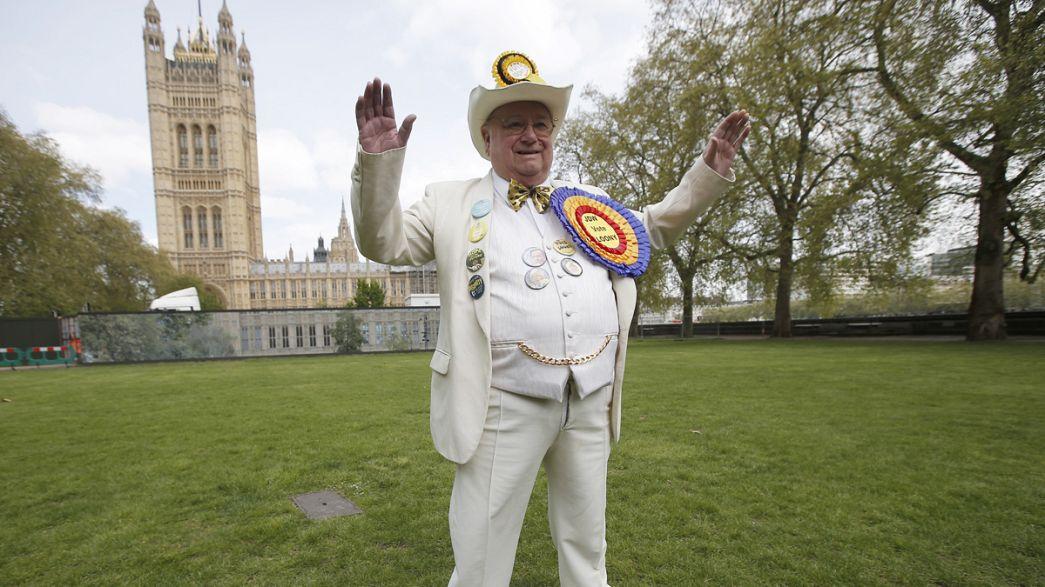 Exzentriker und Superhelden mischen britischen Wahlkampf auf