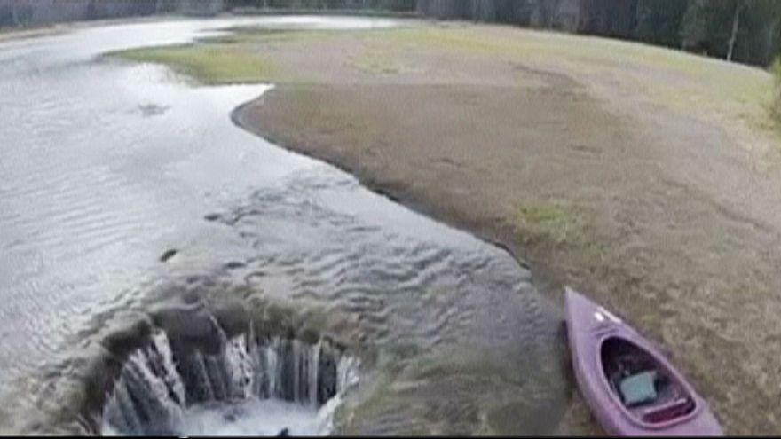 Desaparece un lago en Oregon