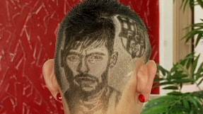 Hairy homage to Neymar