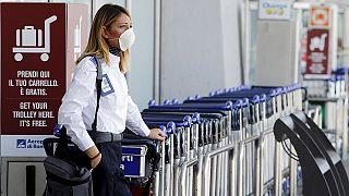 Tűz volt a római Fiumicino repülőtéren