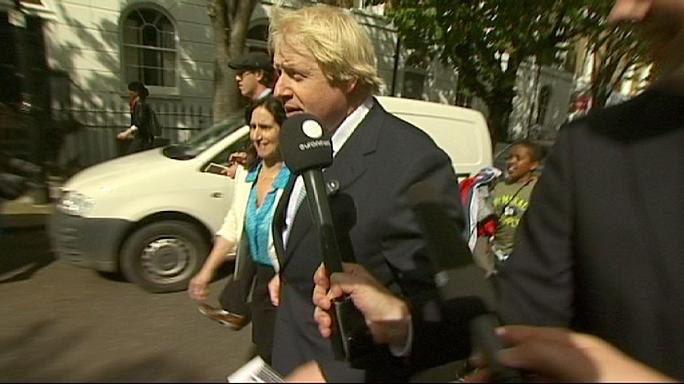 Boris Johnson evades media scrum at polling station