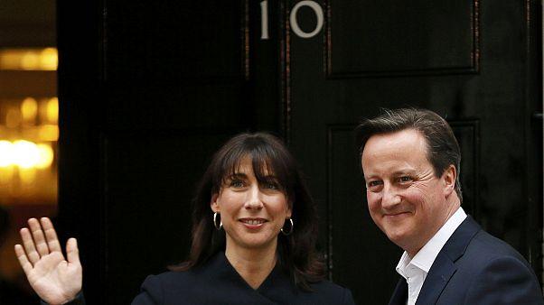 حزب المحافظين بزعامة ديفيد كاميرون يفوز بالأغلبية المطلقة في الانتخابات العامة البريطانية