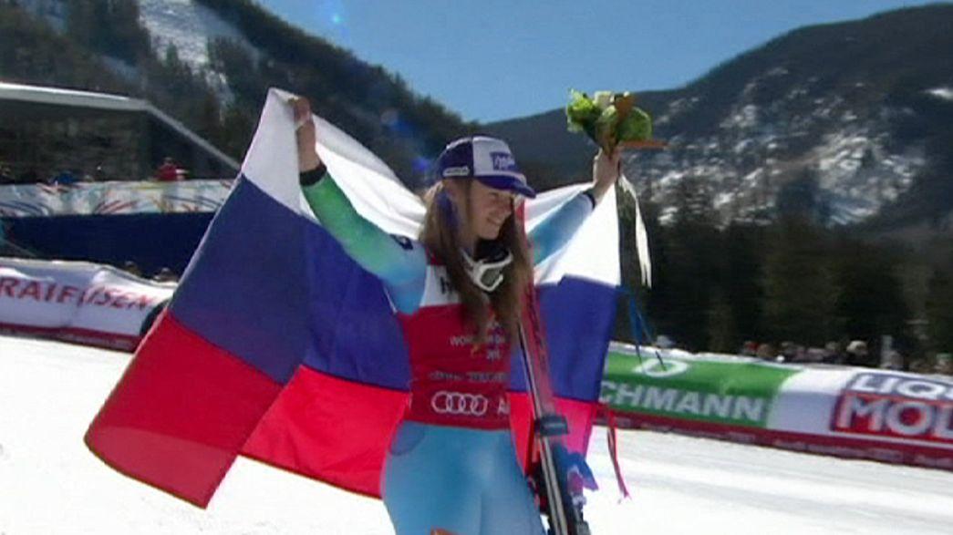 Schneepause für Ski-Star Tina Maze