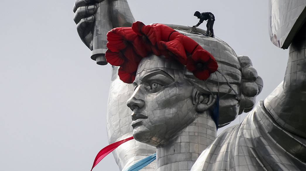 Ukraine feiert Ende des Zweiten Weltkriegs mit Russland und Westeuropa