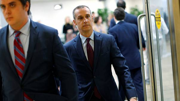 Image: Lewandowski arrives to meet with the House Intelligence Committee at