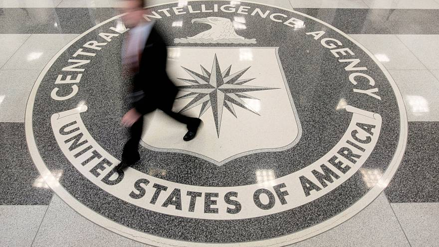 Image: The lobby of the CIA Headquarters Building in Langley, Virginia, on