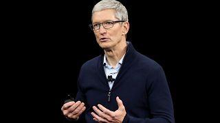 Image: Apple CEO Tim Cook speaks