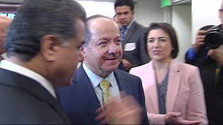 Iraqi Kurd leader Barzani wraps up visit to US
