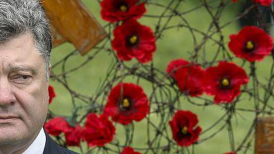 Ukraine joins Europe in marking end of World War II