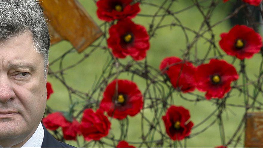 Poppy statt St-Georgs-Band: Kiew gedenkt Weltkriegsende