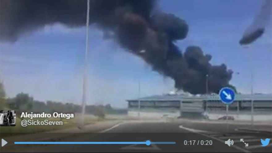 Military plane crashes in Seville, Spain