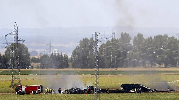 At least three dead after military plane crashes in Spain