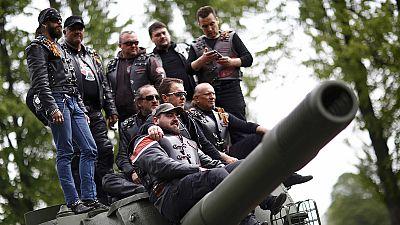 Quelques motards pro-Kremlin rallient (finalement) Berlin