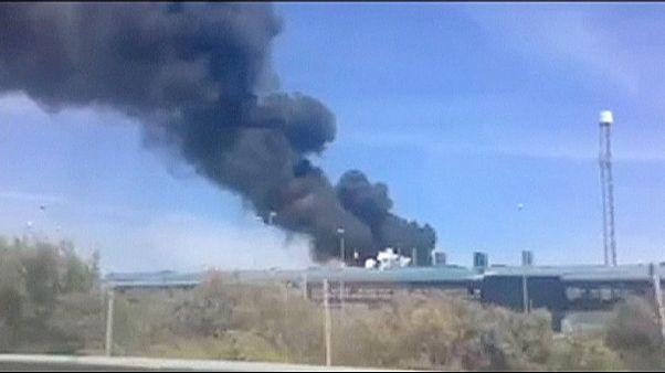 مقتل أربعة أشخاص في حادث تحطم طائرة شحن عسكرية في اسبانيا