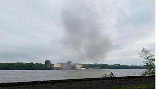 ایالات متحده؛ آتش سوزی در یک نیروگاه هسته ای