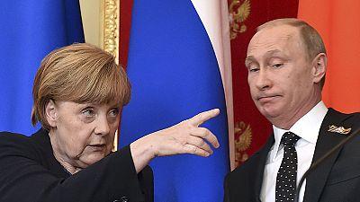 Merkel honra en Moscú a los muertos por el nazismo