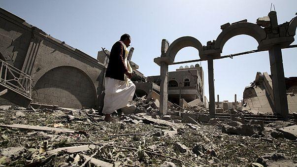 Saudi-led airstrike leaves former Yemen president's home in ruins