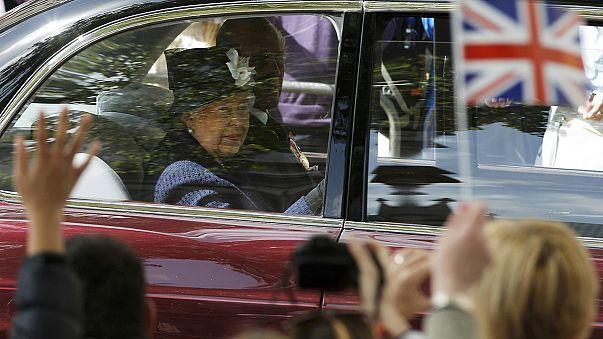 Britain's Queen Elizabeth leads VE celebrations in London