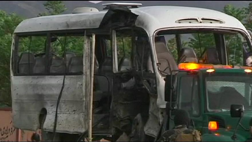 Taliban suicide bomb hits Afghan government bus killing three