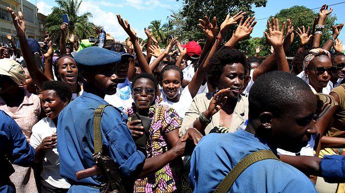 Burundi women protest Nkurunziza third term
