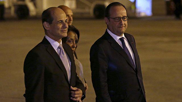 Fransa Cumhurbaşkanı François Hollande Küba'da