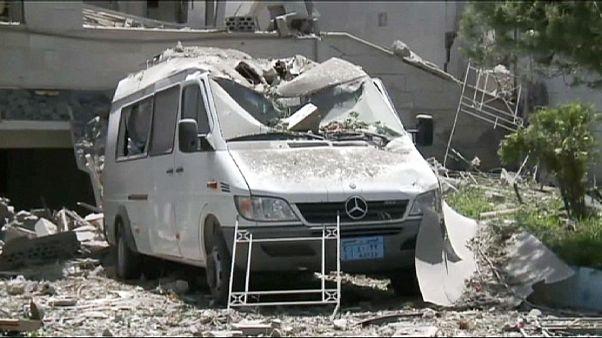 Zerstörungen durch Luftangriffe in Jemen