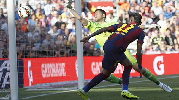 Barcelona continue title march as Real Madrid slip up