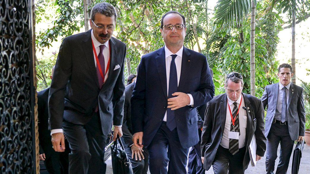 Historischer Besuch: Frankreichs Staatspräsident Hollande in Kuba