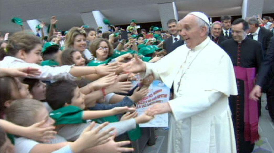 Fragen zum Frieden: Papst-Audienz mit 7000 Kindern