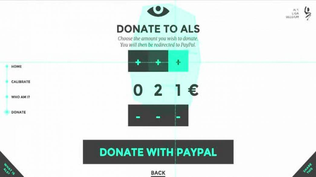 Eye Click Donation (ALS Liga)