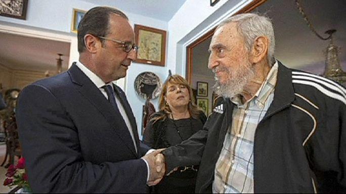 Kubába látogatott a francia elnök