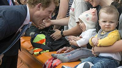 Prince Harry meets a tough crowd