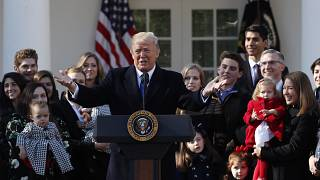 Image: U.S. President Donald Trump addresses the annual March for Life rall