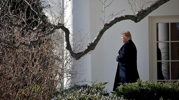 Image: President Trump departs the White House in Washington, DC to Camp Da